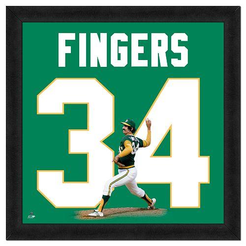 Rollie Fingers Framed Jersey Photo