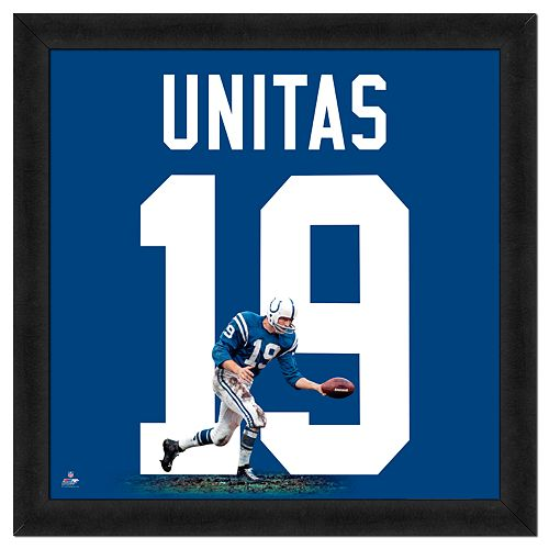 Johnny Unitas Framed Jersey Photo