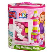 Mega Bloks 80-pc. First Builders Big Building Bag - Pink