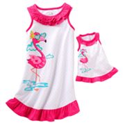 Jumping Beans Flamingo and Dot Nightgown - Girls 4-7