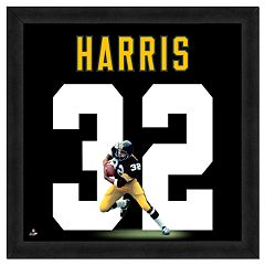 Franco Harris Framed Jersey Photo