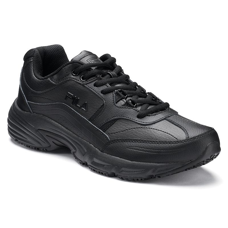 Fila® Memory Workshift Men's Walking Shoes, Size: 11, Black