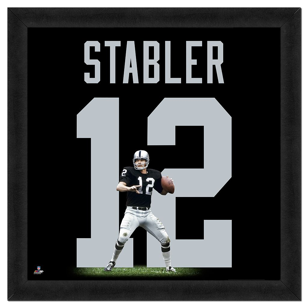 Ken Stabler Framed Jersey Photo