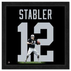 Ken Stabler  Framed Jersey Photo