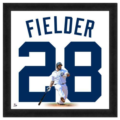 Prince Fielder Framed Jersey Photo