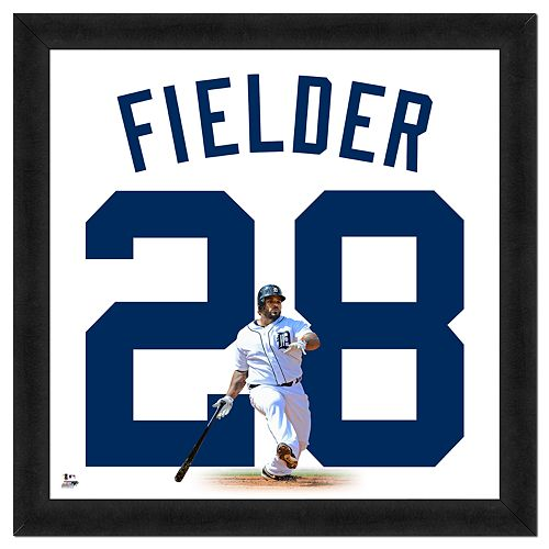 Prince Fielder Framed Jersey Photo