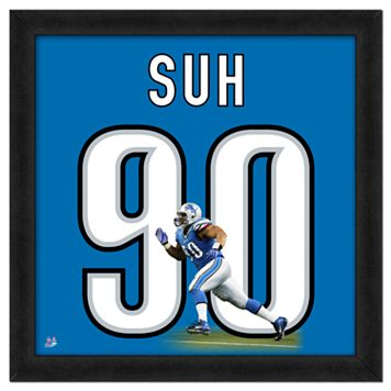 Ndamukong Suh Framed Jersey Photo