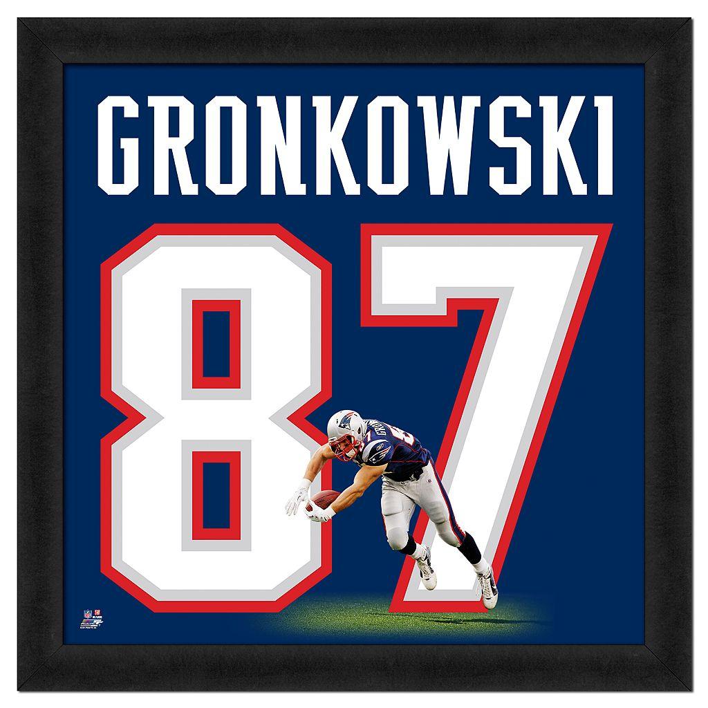 Rob Gronkowski Framed Jersey Photo