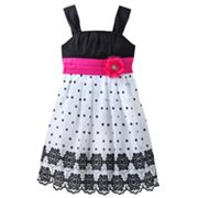 My Michelle Dot and Eyelet Dress - Girls 7-16