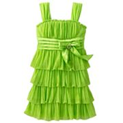 My Michelle Glitter Tiered Emma Dress - Girls 7-16