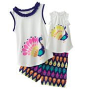 Jumping Beans Peacock Pajama Set - Girls 4-7