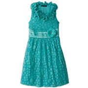 My Michelle Ruffle Dot Dress - Girls 7-16