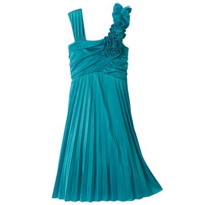 My Michelle Pleated Asymmetrical Dress - Girls 7-16