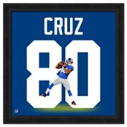 Victor Cruz Framed Jersey Photo