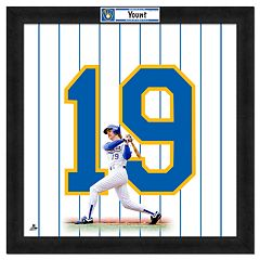 Robin Yount Framed Jersey Photo