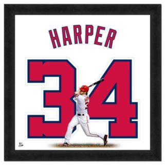 Bryce Harper Framed Jersey Photo