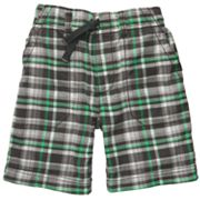 Carter's Plaid Woven Shorts - Toddler