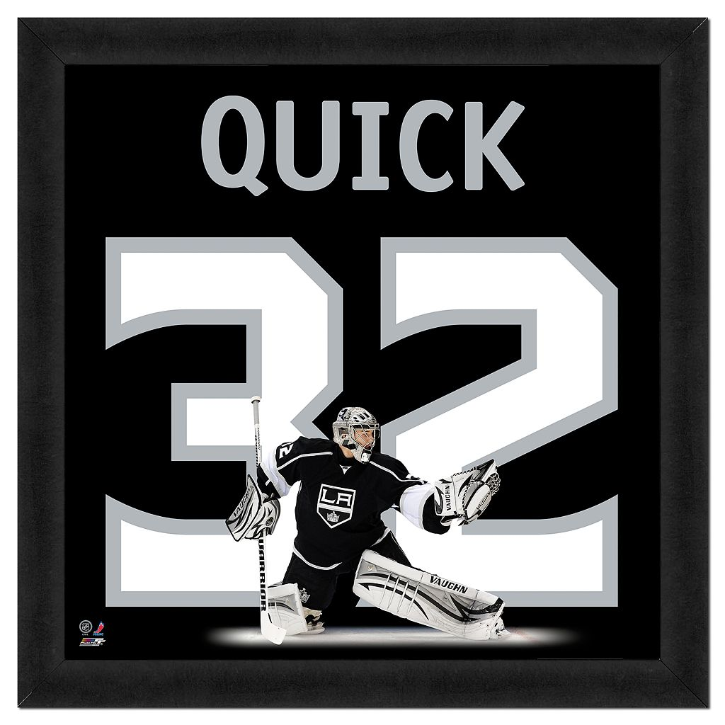 Jonathan Quick Framed Jersey Photo