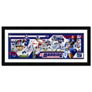Eli Manning Framed Player Photoramic