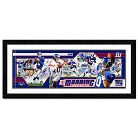 Eli Manning Framed Player Photoramic