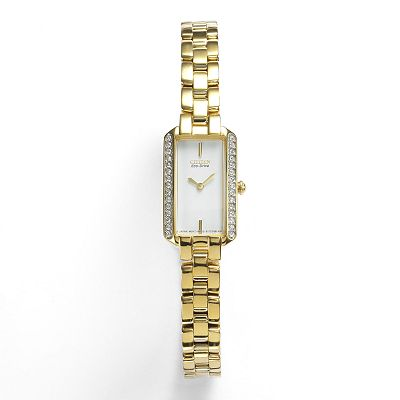 Citizen Eco-Drive Gold Tone Stainless Steel Crystal Watch - Made with Swarovski Elements - EG2782-53A - Women