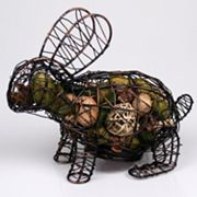 Metal Bunny with Gardenia Potpourri