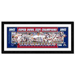 New York Giants Super Bowl XLVI Framed Team Photoramic