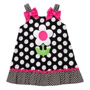 Youngland Floral Polka-Dot Sundress - Newborn