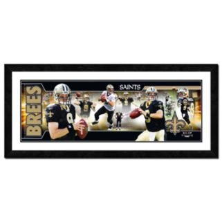 Drew Brees Framed Player Photoramic