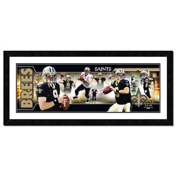 Drew Brees Framed Player Photoramic