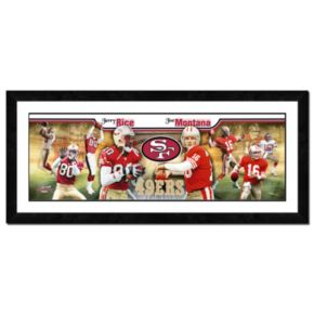 Joe Montana and Jerry Rice Framed Player Photoramic