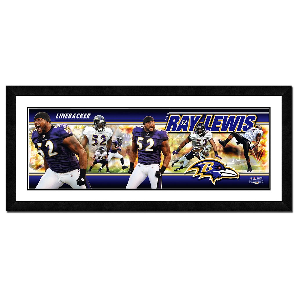 Ray Lewis Framed Player Photoramic