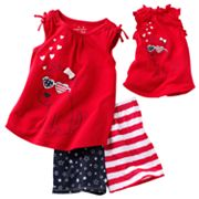 Jumping Beans Patriotic Puppy Pajama Set - Girls 4-7
