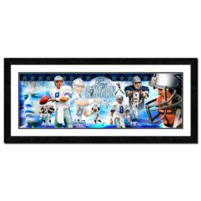Troy Aikman Framed Player Photoramic