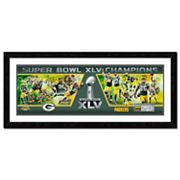 Green Bay Packers Super Bowl XLV Framed Team Photoramic