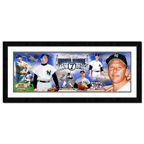 Mickey Mantle Framed Player Photoramic