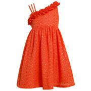 Bonnie Jean Asymmetrical Sparkle Dress - Girls 4-6x