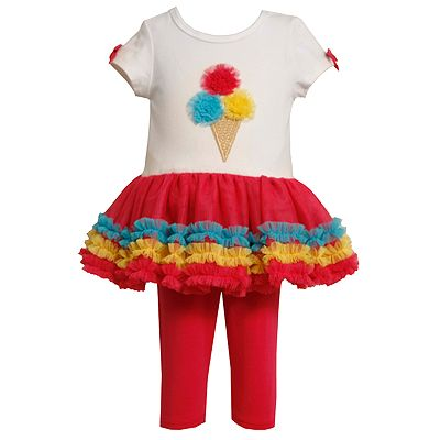 Bonnie Jean Ice Cream Tutu Tunic and Leggings Set - Girls 4-6x