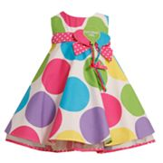 Bonnie Jean Birthday Girl Polka-Dot Trapeze Dress - Girls 4-6x