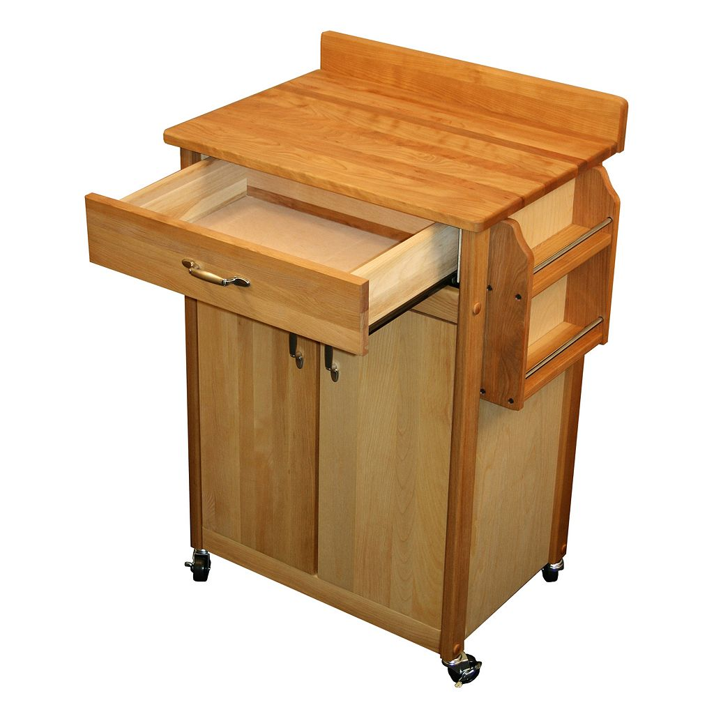 Catskill Craftsmen Butcher Block Kitchen Island Cart