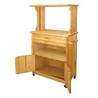Catskill Craftsmen Natural Finish Microwave Cart