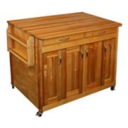 Catskill Craftsmen Butcher Block Top Kitchen Cart