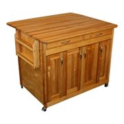 Catskill Craftsmen Butcher Block Top Drop Leaf Kitchen Cart