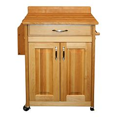 Catskill Craftsmen Deluxe Butcher Block Top Kitchen Cart