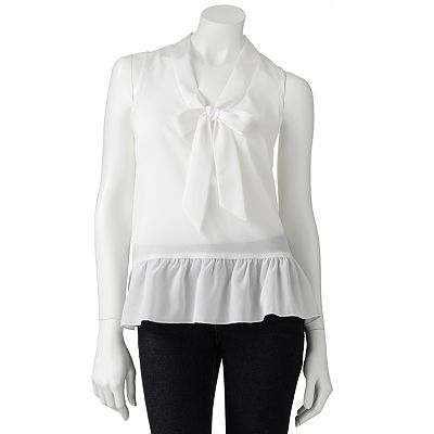 About A Girl Bow Flounce Top - Juniors
