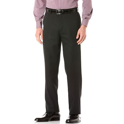 Axist Straight-Fit Solid Easy-Care Microfiber Flat-Front Dress Pants