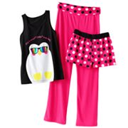 SO Penguin Yoga Pajama Set - Girls 7-16