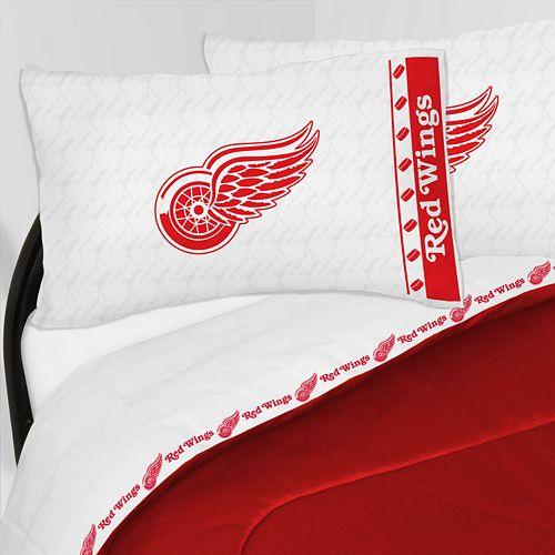 Detroit Red Wings Sheet Set - Twin