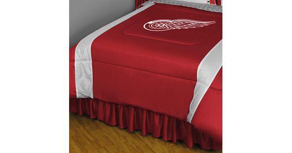 Detroit Red Wings Comforter Full Queen