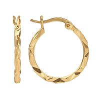 14k Gold Plated Hoop Earrings
